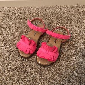 NWOT Cat & Jack Pink Ruffle Sandal